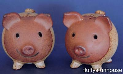 Gempo Pig Salt & Pepper Shakers Smiling Cuties Japan Excellent Condition
