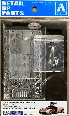 Pagani Huayra Detail Up Parts Photo Etched 1:24 Model Kit Bausatz Aoshima 010921