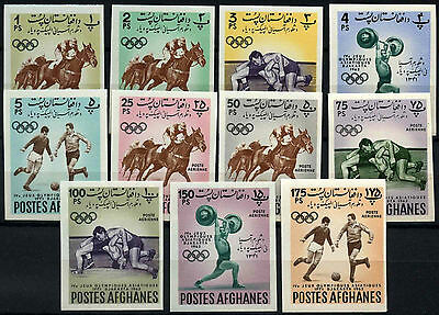 Afghanistan 1962 Olympic Games Football MNH Imperf Set #D37103