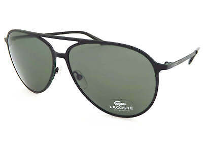 e878d4496b8c LACOSTE Sunglasses Matte Black Green Stripe  Dark Green Lenses L179S 002
