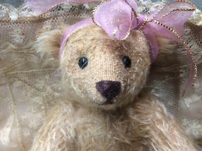 Mint Artist Mohair Teddy Bear Fully Jointed Unknown Artist 8 And 1/2""