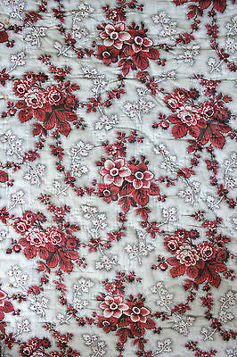 Antique French quilted madder brown textile c1860 large beg hanging textile