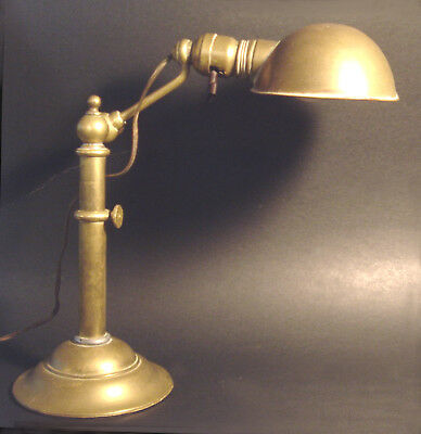 ARTS & CRAFTS Solid BRASS Jointed BRADLEY & HUBBARD Pharmacy ANTIQUE DESK LAMP