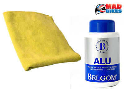 BELGOM Alu 250ml Aluminium Alloy polish + Microfibre Polishing cloth