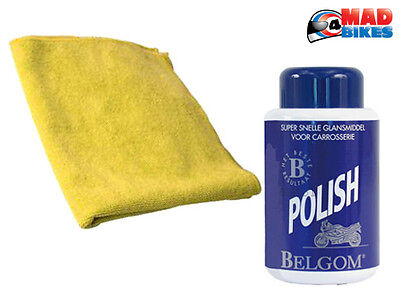 Belgom Premium Polish for all painted surfaces 250ml and micro fibre cloth
