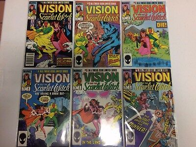 The Vision and the Scarlet Witch #1 2 3 4 5 6 Comic Book Set Marvel 1985