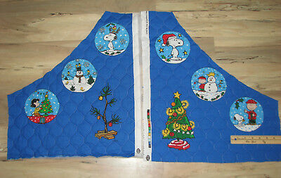 Snoopy Peanuts Charlie Brown Christmas Fabric Tree Skirt ORNAMENT CUT OUTS - Set