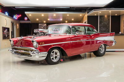 1957 Chevrolet Bel Air/150/210 Pro Street Frame Off, Rotisserie Build! Supercharged 468ci V8, AOD Automatic, Dana 60 Posi
