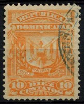 Dominican Republic 1885-91 SG#80, 10c Orange Used #D62874