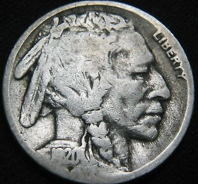 Tougher Date 1920-S BUFFALO NICKEL 5¢! FREE S&H! Low Mintage 9.6 million EG88XC