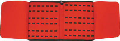 CN210781 Red Felt 40-Pocket Folding Knife/Tool Storage Travel Carry Case