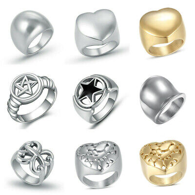 316L Stainless Steel Fashion Silver Color Women Lady Simple Finger Rings Jewelry