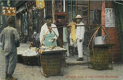 Shanghai China - Kitchen Sale In Street  - Vibrant Old Postcard View