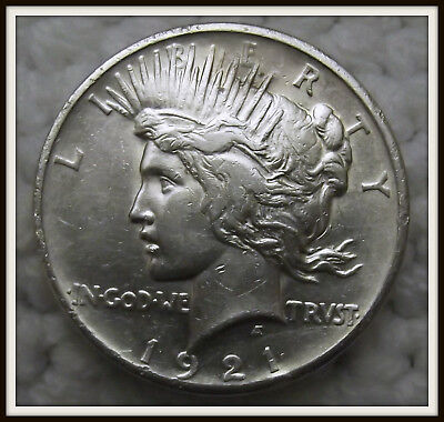 1921 $1 Peace Silver Dollar (XF) High Relief
