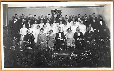 Original 1930's era RP Postcard of a choir with conductor and Cellist.
