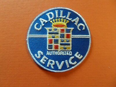 CADILLAC blue & silver Embroidered 3 x 3 Iron On Patch