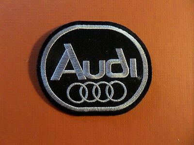 AUDI black & silver Embroidered 2-5/8 x 3-1/8 Iron On Patch
