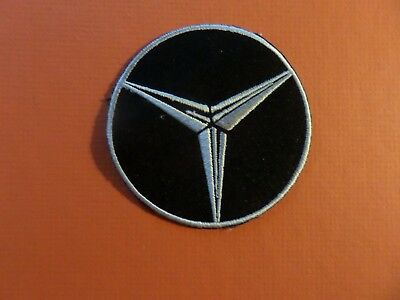 MERCEDES-BENZ black & silver Embroidered 3 x 3 Iron On Patch