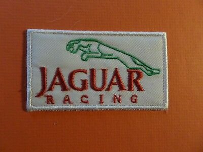 JAGUAR RACING black & white Embroidered 2-1/2 x 3-1/2 Iron On Patch