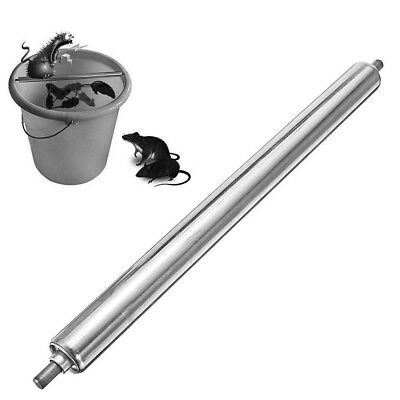 1pc Stainless Mice Mouse Rat Trap Log Roll Bucket Rolling Stick Rodent Spin