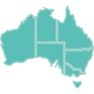 Kaisercraft Die - MAP OF AUSTRALIA - use in most machine - DD468