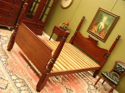 "VINTAGE CEDAR ""COLONIAL STYLE"" FOUR POSTER DOUBLE BED WITH SLAT BASE   c1960s"