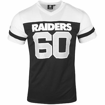 NFL Football Trikot Jersey Shirt OAKLAND RAIDERS V-Neck 60 black white Majestic