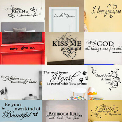 Bathroom Rules Art Wall Stickers Vinyl Removable Decals Mural  Wall Stickers