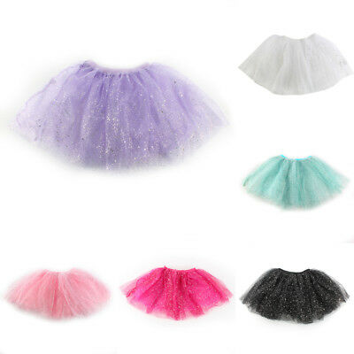 Glitter Sparkle Dress Swqun Tulle Dress Kids Girls Ballet Dancewear Tutu Skirt
