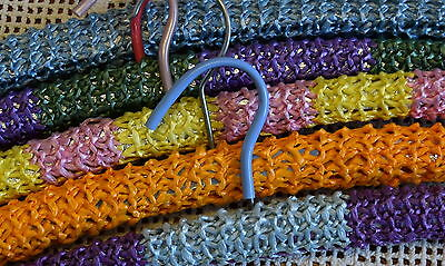 Lot of 5 FUNKY Vintage Crochet * COAT HANGERS * Retro BRIGHT SHABBY BOHO Clothes