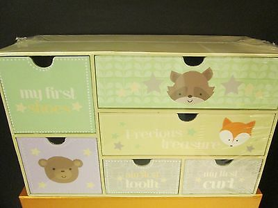My First Tooth, My First Curl, My First Shoes Treasure Box, Nursery Decor, NEW