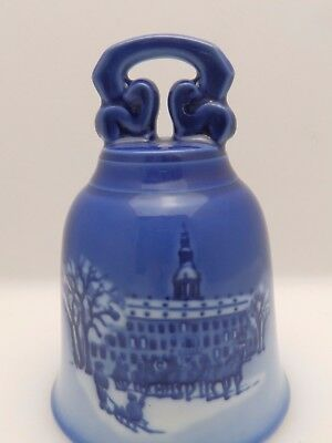Royal Copenhagen Blue and White Christmas Bell - 1992