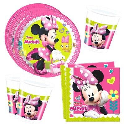 Minnie Maus - Set Party Teller Becher Servietten Partygeschirr Mouse