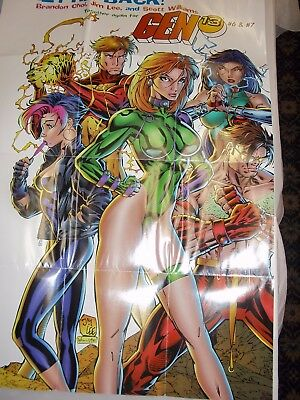 Poster Gen 13 (1995) Jim Lee / Brandon Choi / Scott Williams / Wildstorm