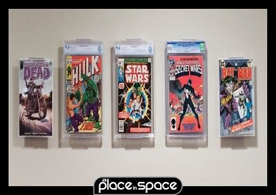 1 X Comic Book Displays - Adjustable Wall Mounts Or Shelf Stands