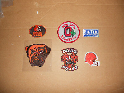 6 Cleveland Browns & Ohio State Buckeyes Patches NICE