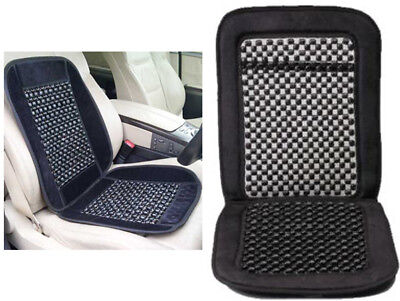 Car Van Taxi Beaded Front Car Seat Cover Interior Cushion Massage Wooden Classic