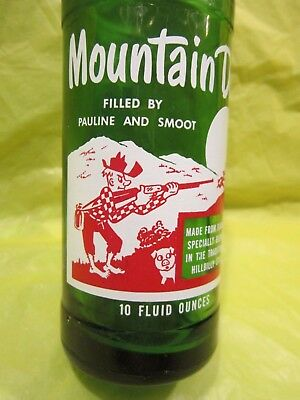 Mountain Mtn Dew Filled By Pauline And Smoot 1965 Glass Bottle By Pepsi Cola