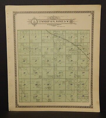 Michigan Menominee County Map Spalding & Harris Townships Dbl Side 1912 K17#87