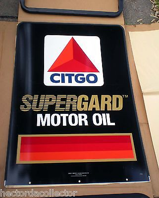 SALE Vintage NOS 24x36 CITGO SuperGard Motor Oil Sign Double Sided Curb Standing