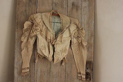 Antique Victorian French bodice shirt woman's lace clothing