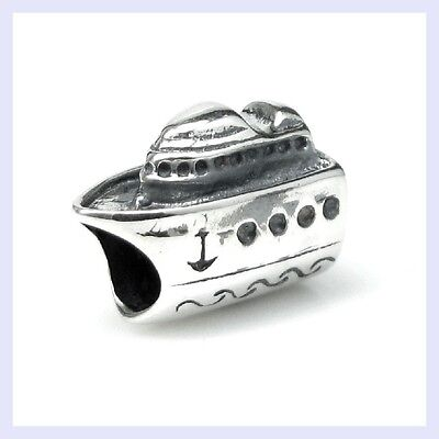 Sterling Silver Nautical Cruise Ship Vacation Bead for European Charm Bracelet