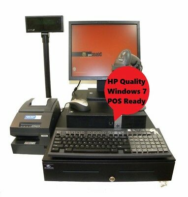 Touch Screen i5 3.1Ghz Full Cash Register Point Of Sale Win 7 & POS Software