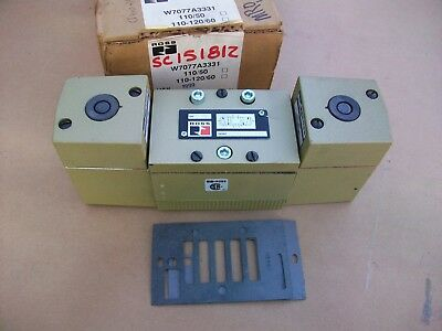 Ross Pneumatic Solenoid Valve W7077A3331   120vac coil  NEW IN BOX