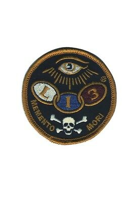 Lucky 13 The Dead Eye Tattoo Rocker Memento Mori Embroidered Iron On Patch