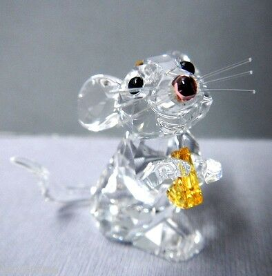 Mouse With Cheese Swarovski Crystal Retired  5004691