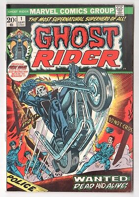 Ghost Rider #1 (1973 Series) 1st  Daimon Hellstrom Marvel Sep 1973 FN-