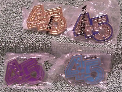 2016 45 Lot Of 4 Gold,turquoise,silver/blue,purple Abq Int'l Balloon Fiesta Pins
