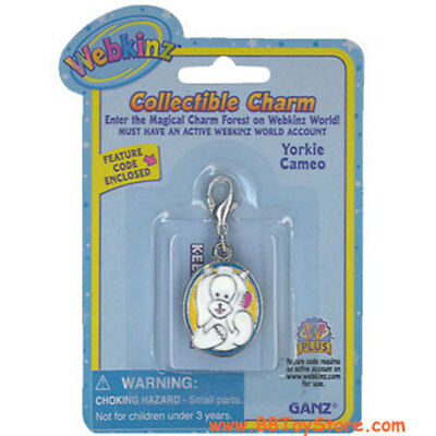 Webkinz Collectible Charm - YORKIE CAMEO - New
