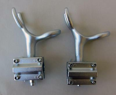 2 x Cast Alloy Rod Holder Strong Cast Aluminium Fishing W/ Rail Bracket Mount